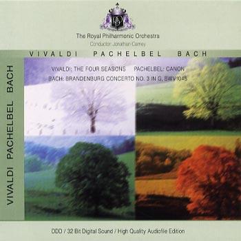 Vivaldi/Pachelbel/Bach -Four seasons/Canon/etc (CD)