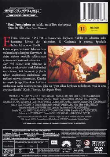 Star Trek -  the final frontier (DVD